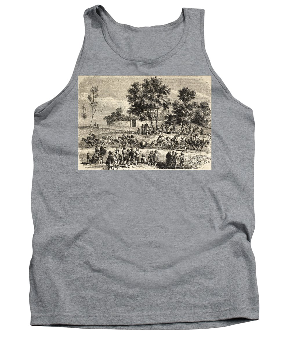 Science Tank Top featuring the photograph Magdeburg Hemispheres, 17th Century by Science Source