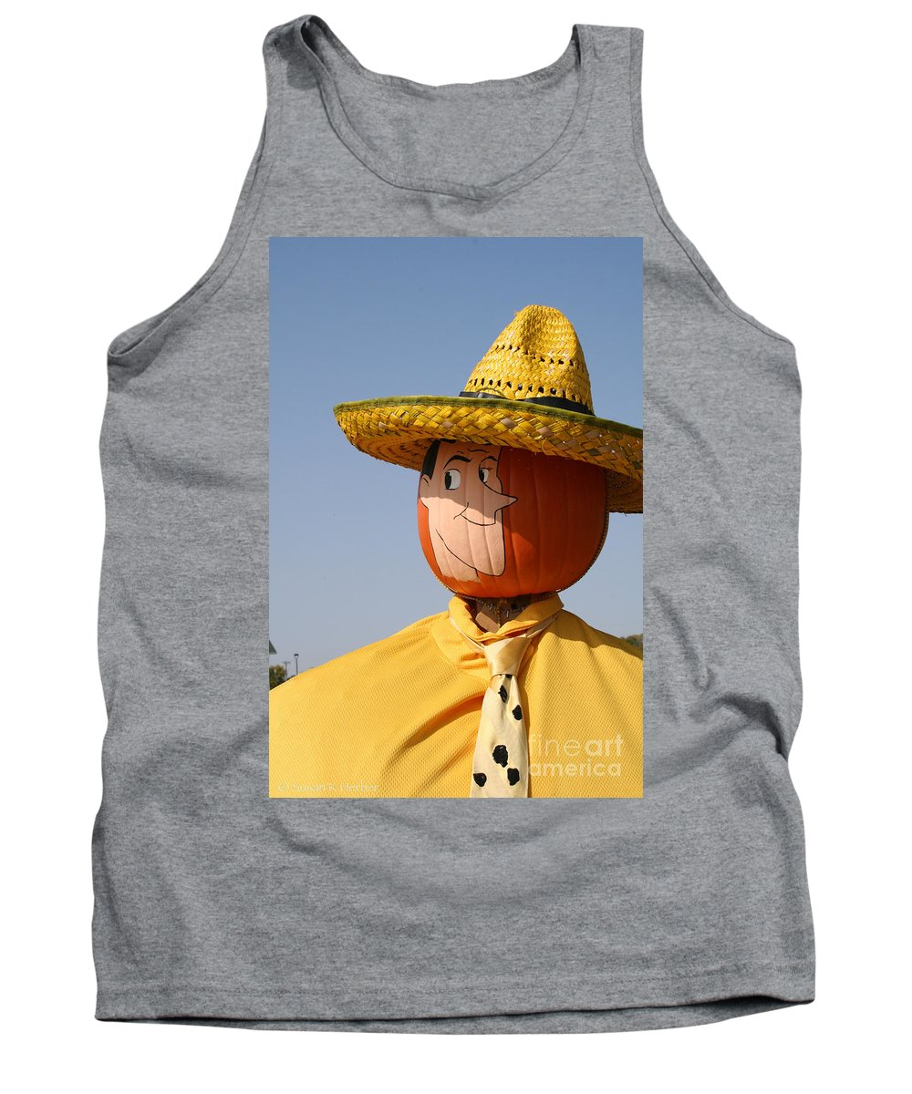 Outdoors Tank Top featuring the photograph Man With The Yellow Hat by Susan Herber
