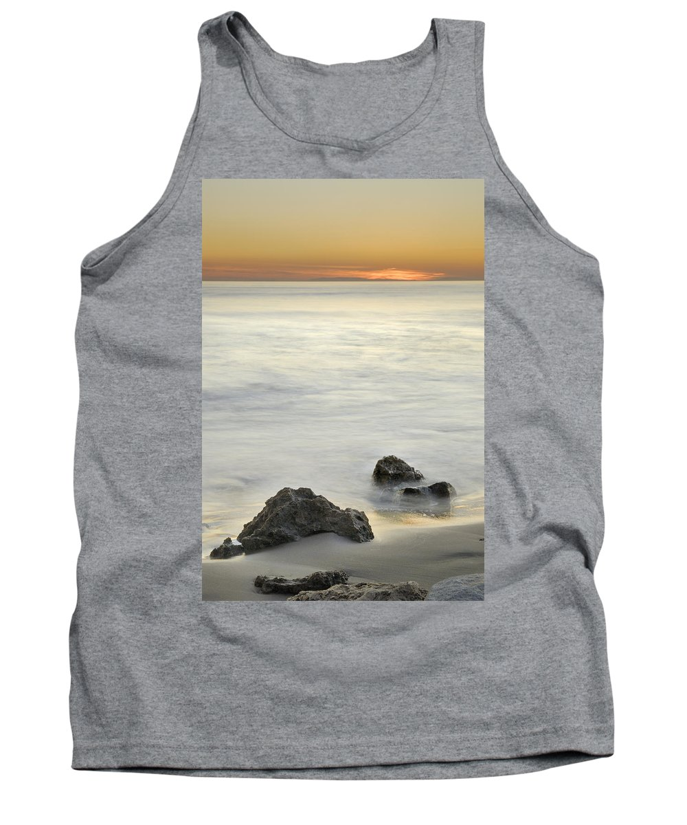 Seascape Tank Top featuring the photograph Mediterranean Sunset by Guido Montanes Castillo