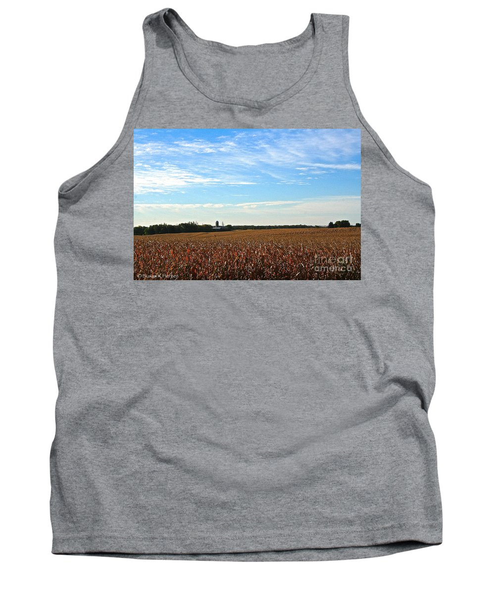 Landscape Tank Top featuring the photograph Midwest Farm by Susan Herber
