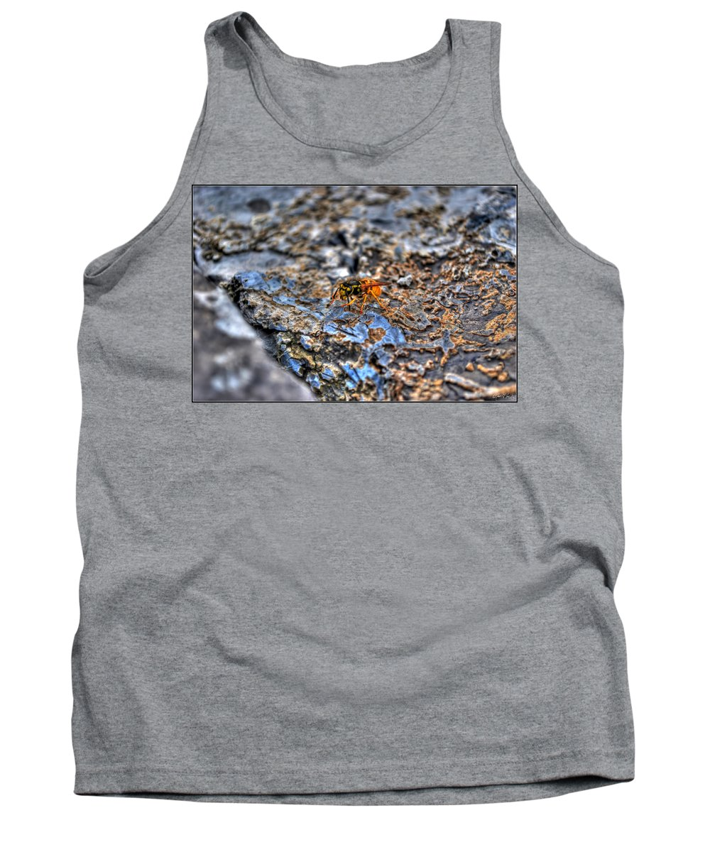 Tank Top featuring the photograph Mind Your Own Buzznuss by Michael Frank Jr