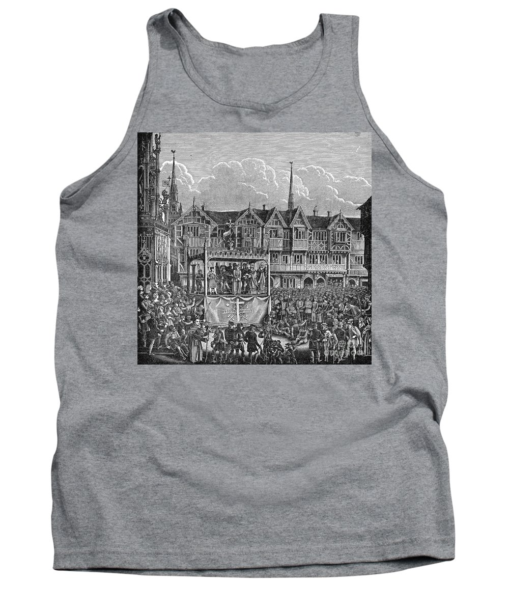 15th Century Tank Top featuring the photograph Miracle Play, 15th Century by Granger