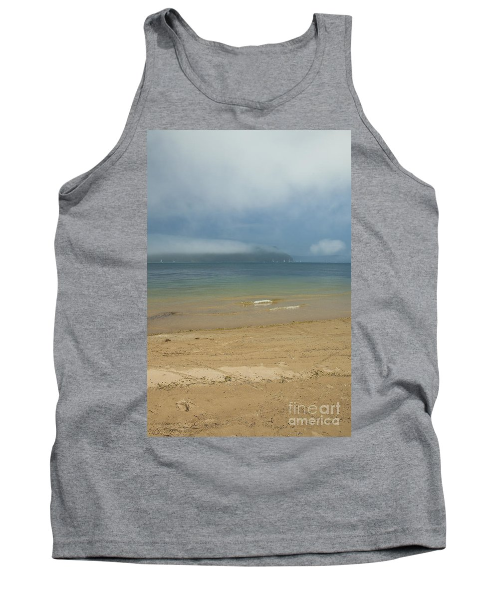 Misty Tank Top featuring the photograph Mist over Pittwater by Sheila Smart Fine Art Photography