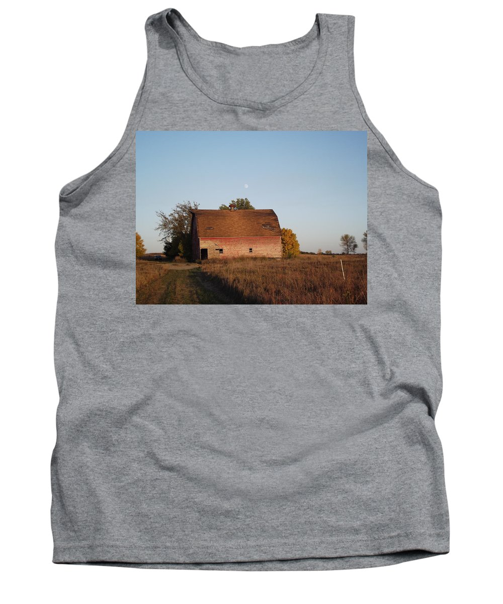 Moon Tank Top featuring the photograph Moon Barn by Bonfire Photography