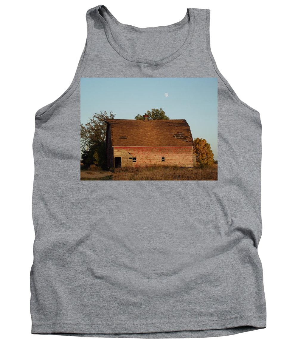 Moon Tank Top featuring the photograph Moon Barn IIi by Bonfire Photography