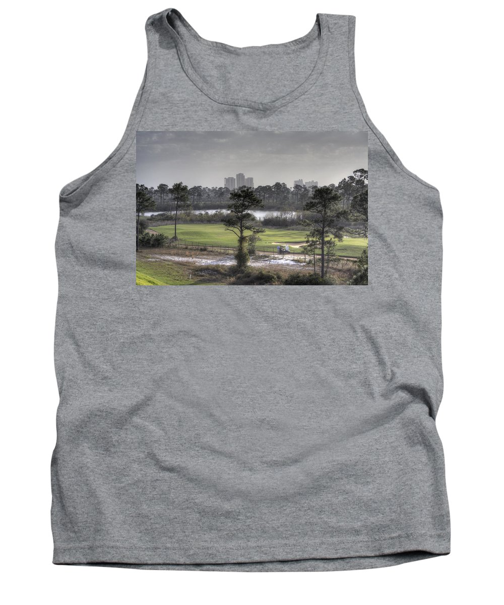 Golf Course Tank Top featuring the photograph Morning Tee by David Troxel