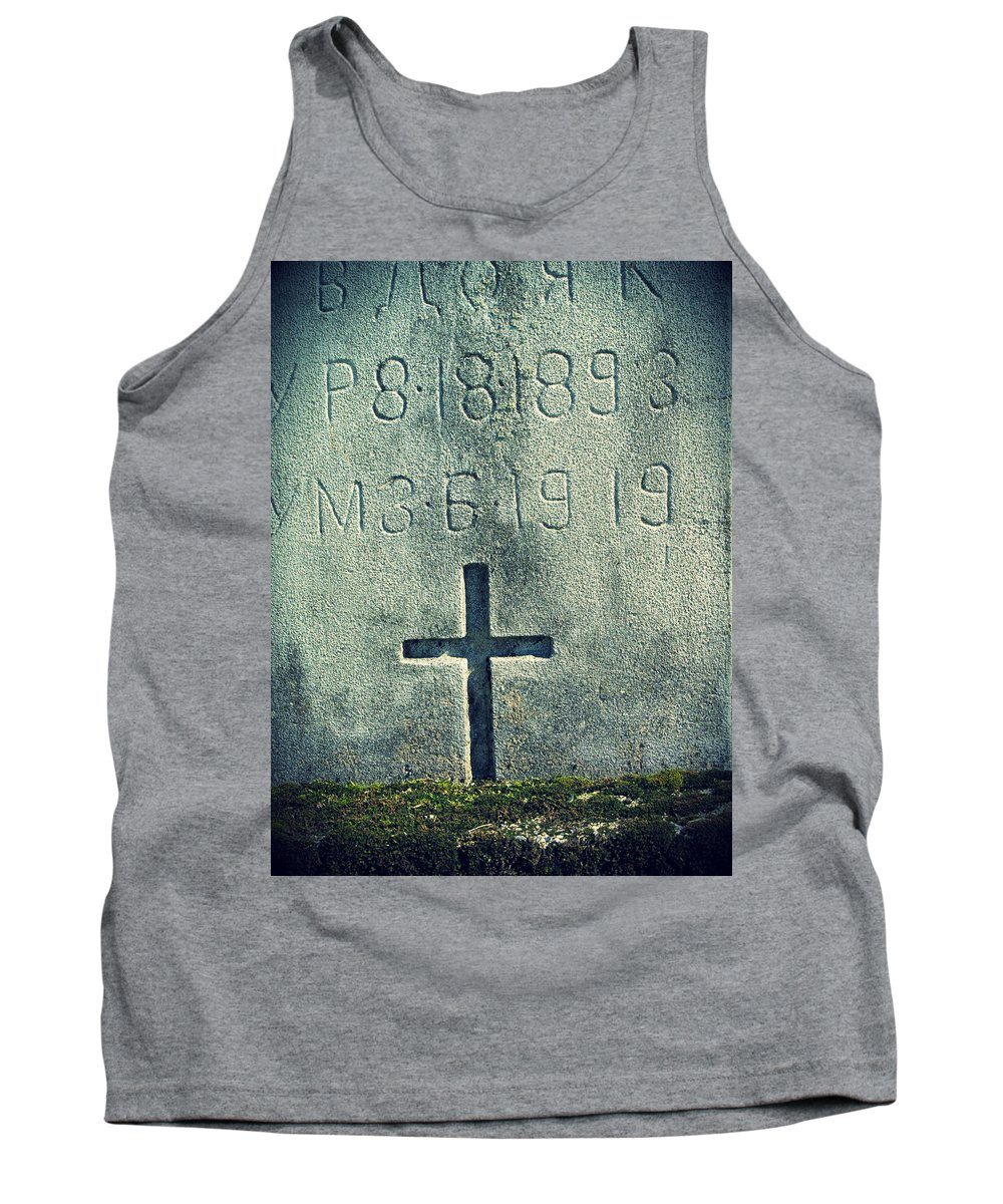 Moss Tank Top featuring the photograph Mossy Tomb by Michele Nelson