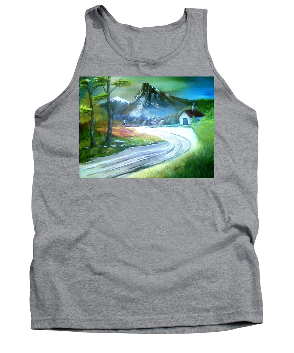 Landscape Tank Top featuring the painting Mt. Of Hope by Evelyn Bloomer