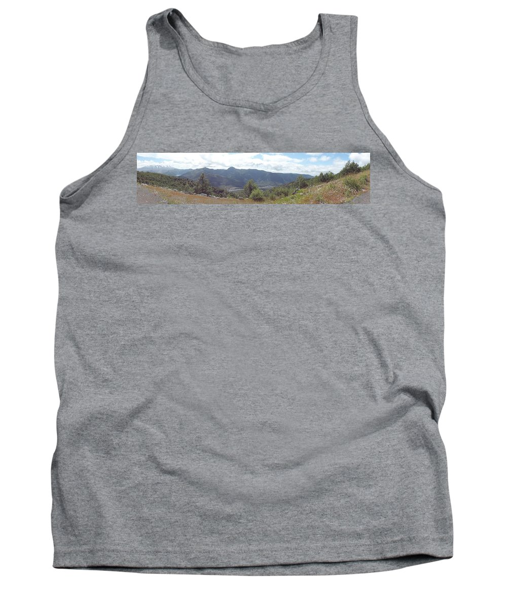 Photos Of Mt St Helens Photographs Photographs Tank Top featuring the photograph Mt St Helens Panarama by Christy Leigh