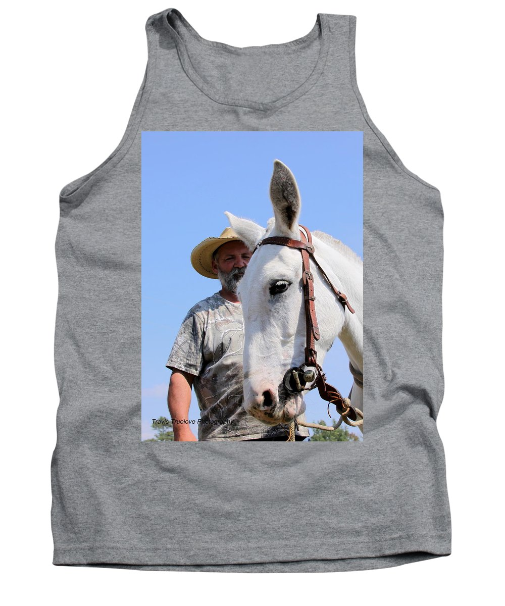Horses And Mules Tank Top featuring the photograph Mules At Benson Mule Day by Travis Truelove