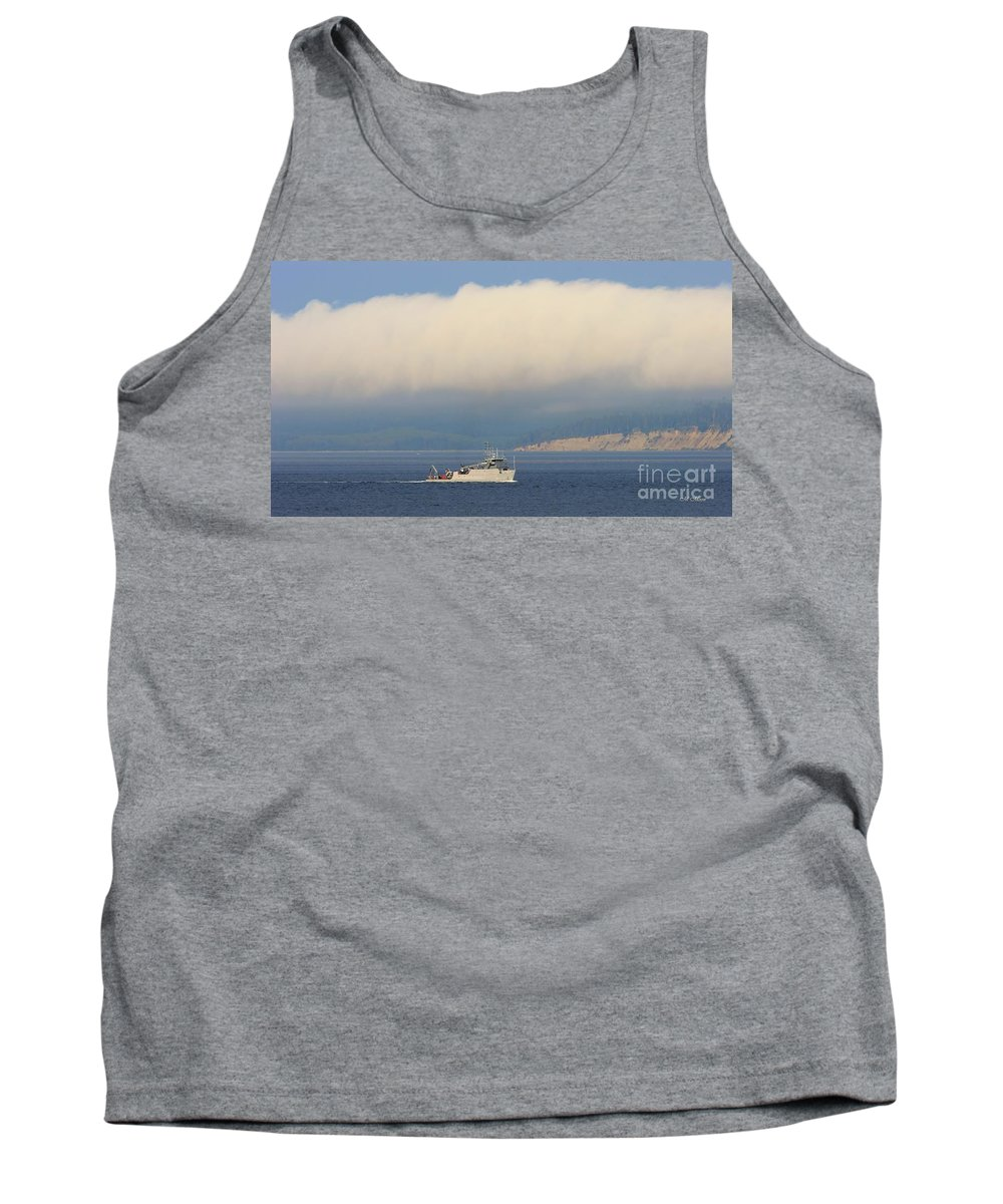 Discovery Bay Ship Tank Top featuring the photograph Naval Operations by Tap On Photo