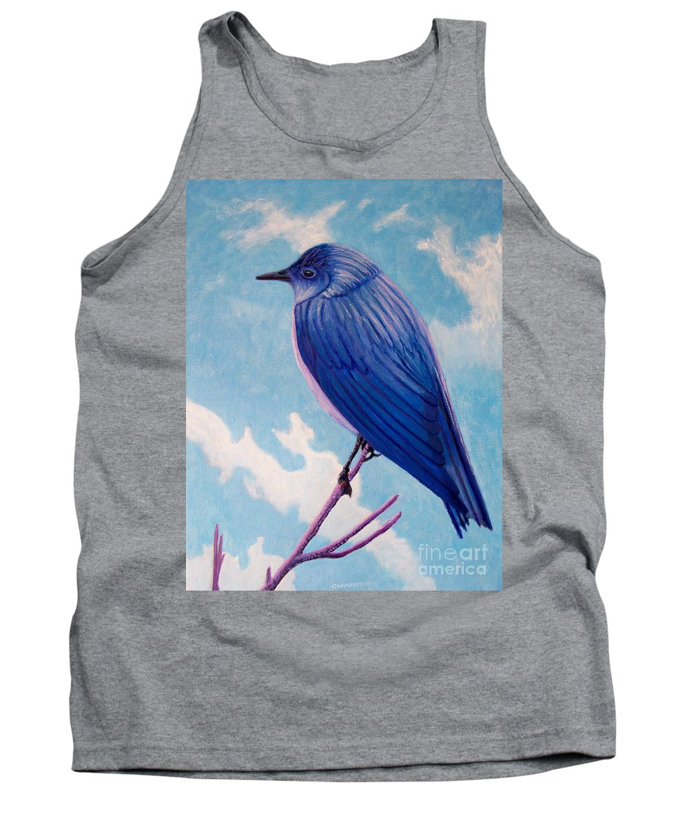 Bird Tank Top featuring the painting Never Too Late by Brian Commerford