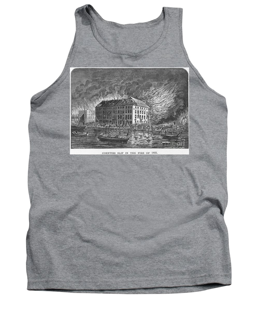 1835 Tank Top featuring the photograph New York: Fire Of 1835 by Granger