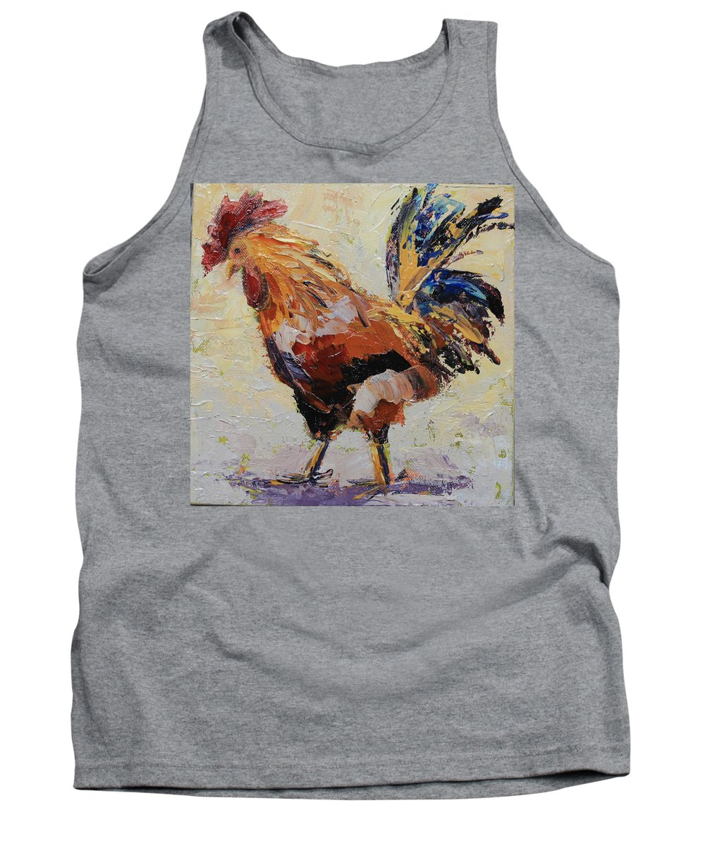 Chicken Tank Top featuring the painting no4 by Yvonne Ankerman
