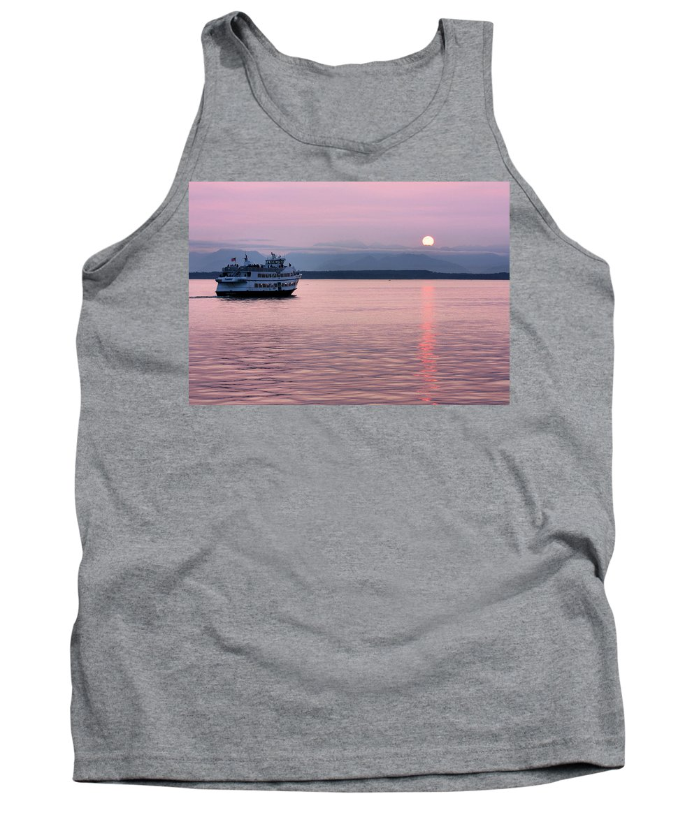 Ship Tank Top featuring the photograph Off Into The Sunset by Kristin Elmquist