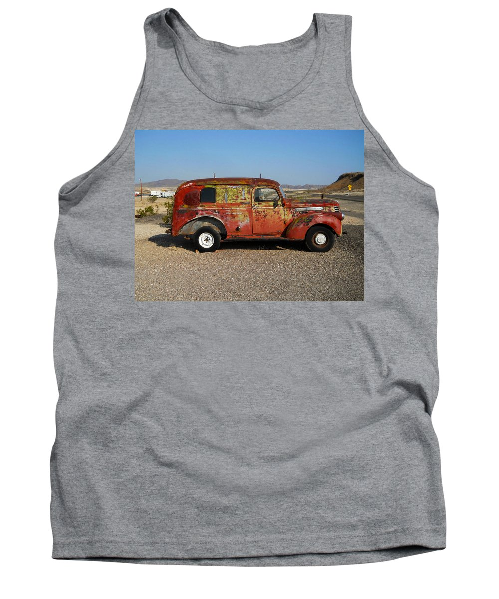 Truck Tank Top featuring the photograph Ol Rust Bucket by Judy Hall-Folde