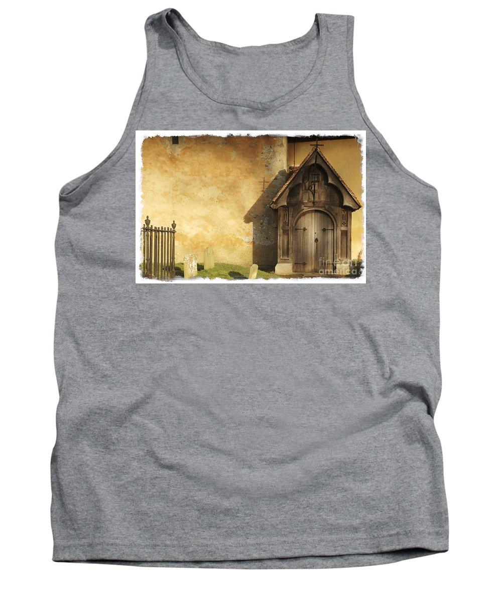 Chursh Tank Top featuring the photograph Old Church Door by Martin Williams