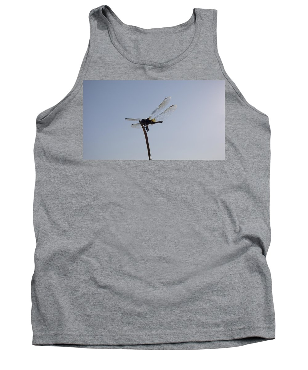 Dragonfly Tank Top featuring the photograph On The Tip by Douglas Barnard