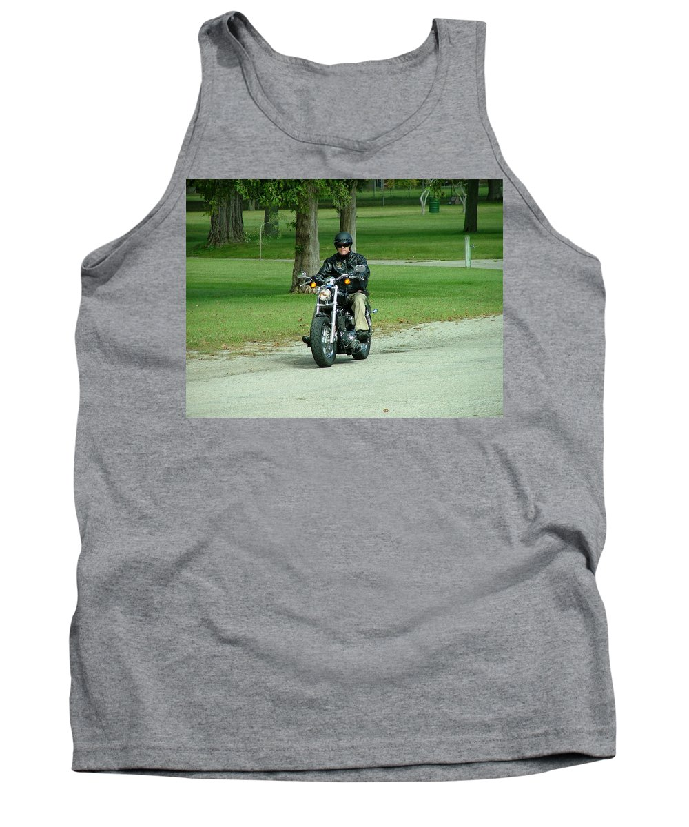 Bike Tank Top featuring the photograph Out For A Ride by Dennis Pintoski