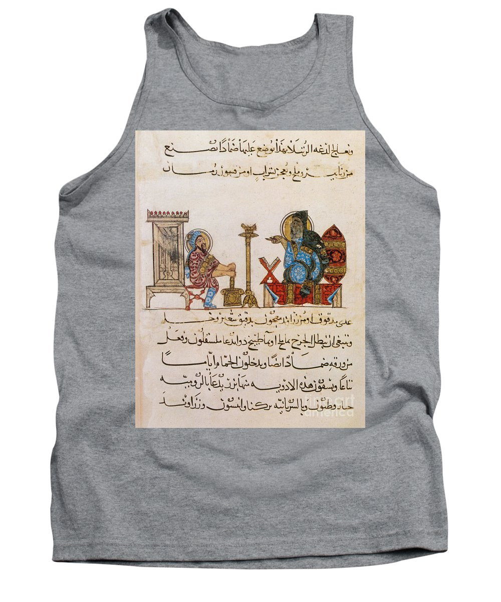 Historical Tank Top featuring the photograph Page From Dioscoridess De Materia Medica by Science Source