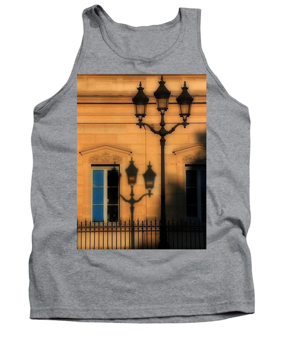 Paris Tank Top featuring the photograph Paris Shadows by Andrew Fare