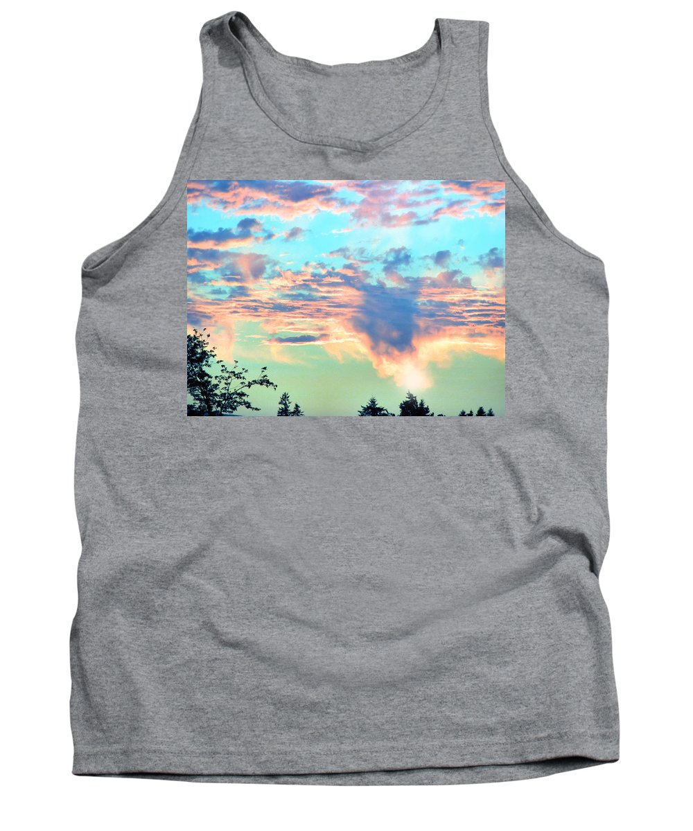 Sunset Tank Top featuring the photograph Parrish Sunset by Rory Sagner