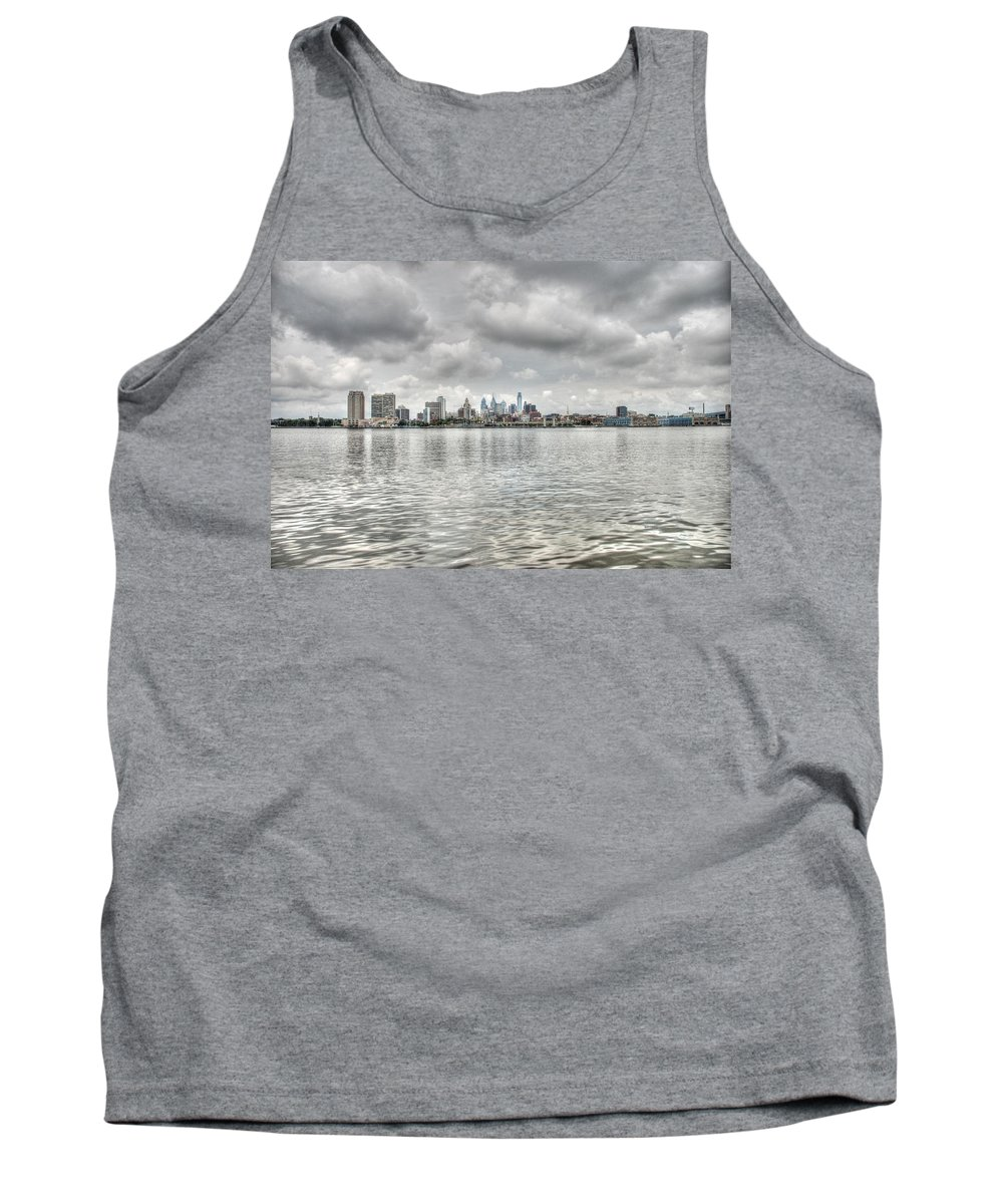 Philadelphia Tank Top featuring the photograph Philadelphia Across The Water by Jennifer Ancker