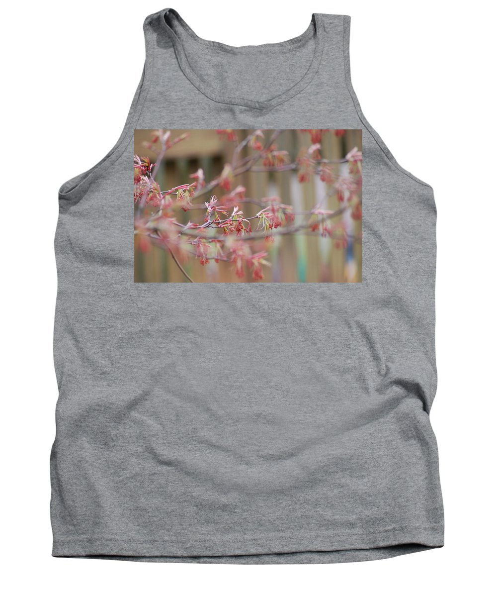 Branches Tank Top featuring the photograph Pink Flowers by Stefa Charczenko