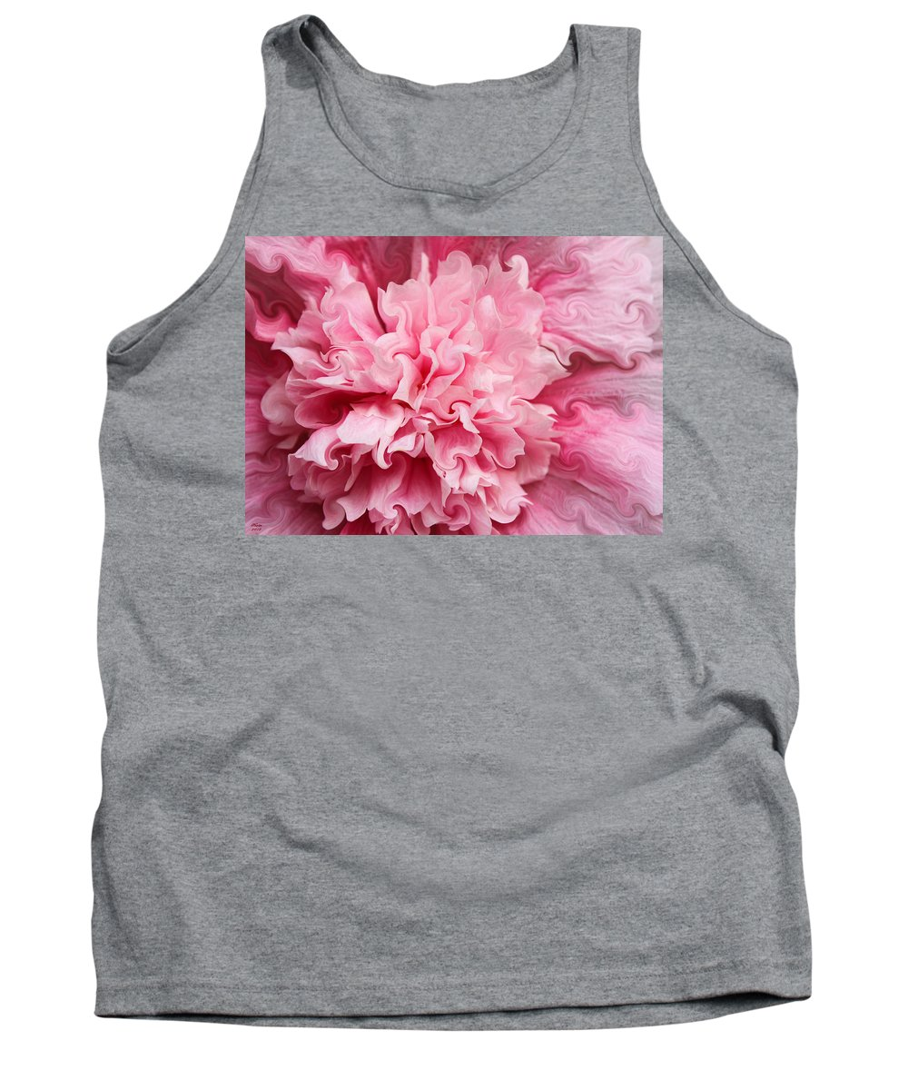 Hollyhock Tank Top featuring the photograph Pink by Kristin Elmquist