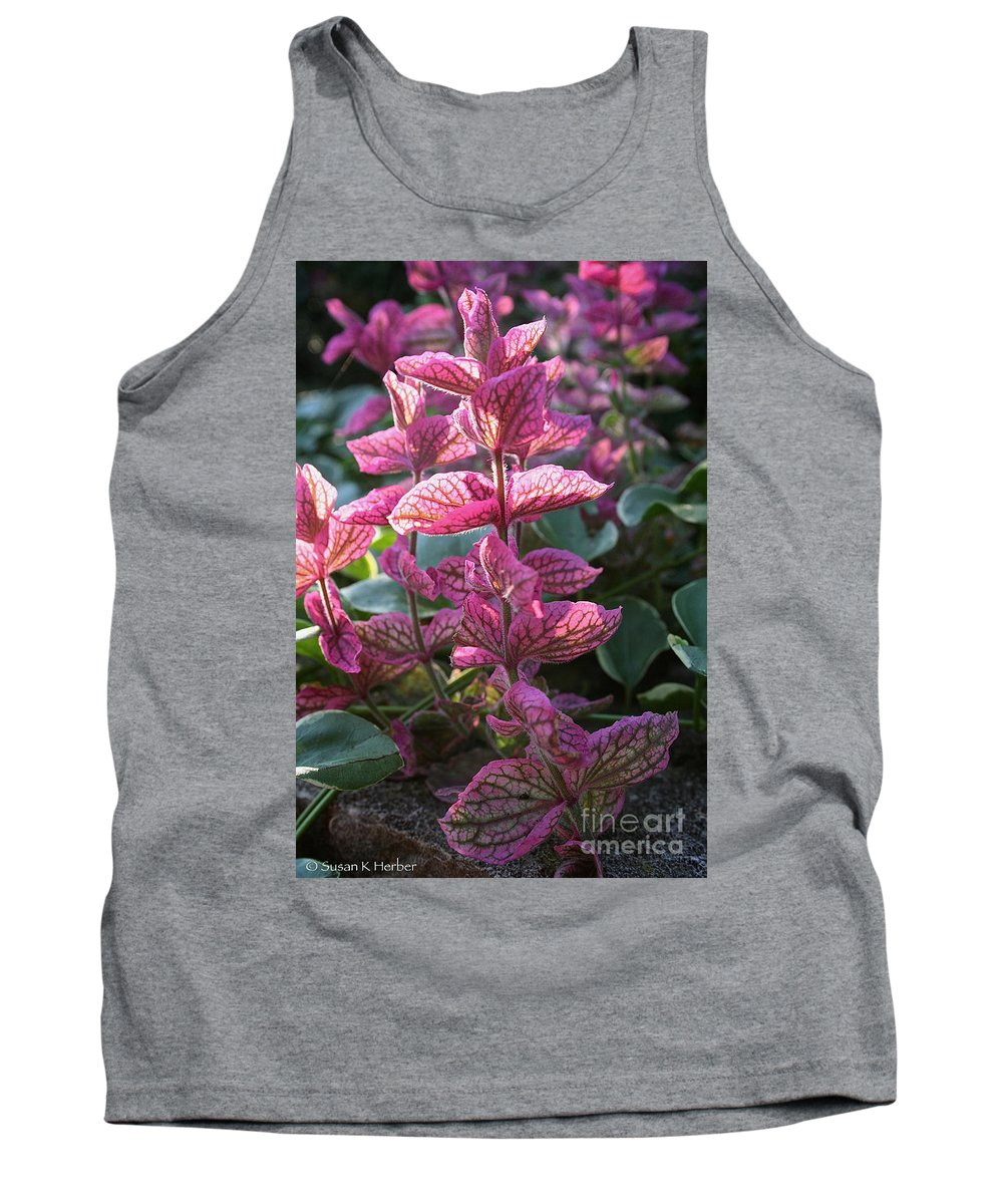 Outdoors Tank Top featuring the photograph Pink Periwinkle by Susan Herber