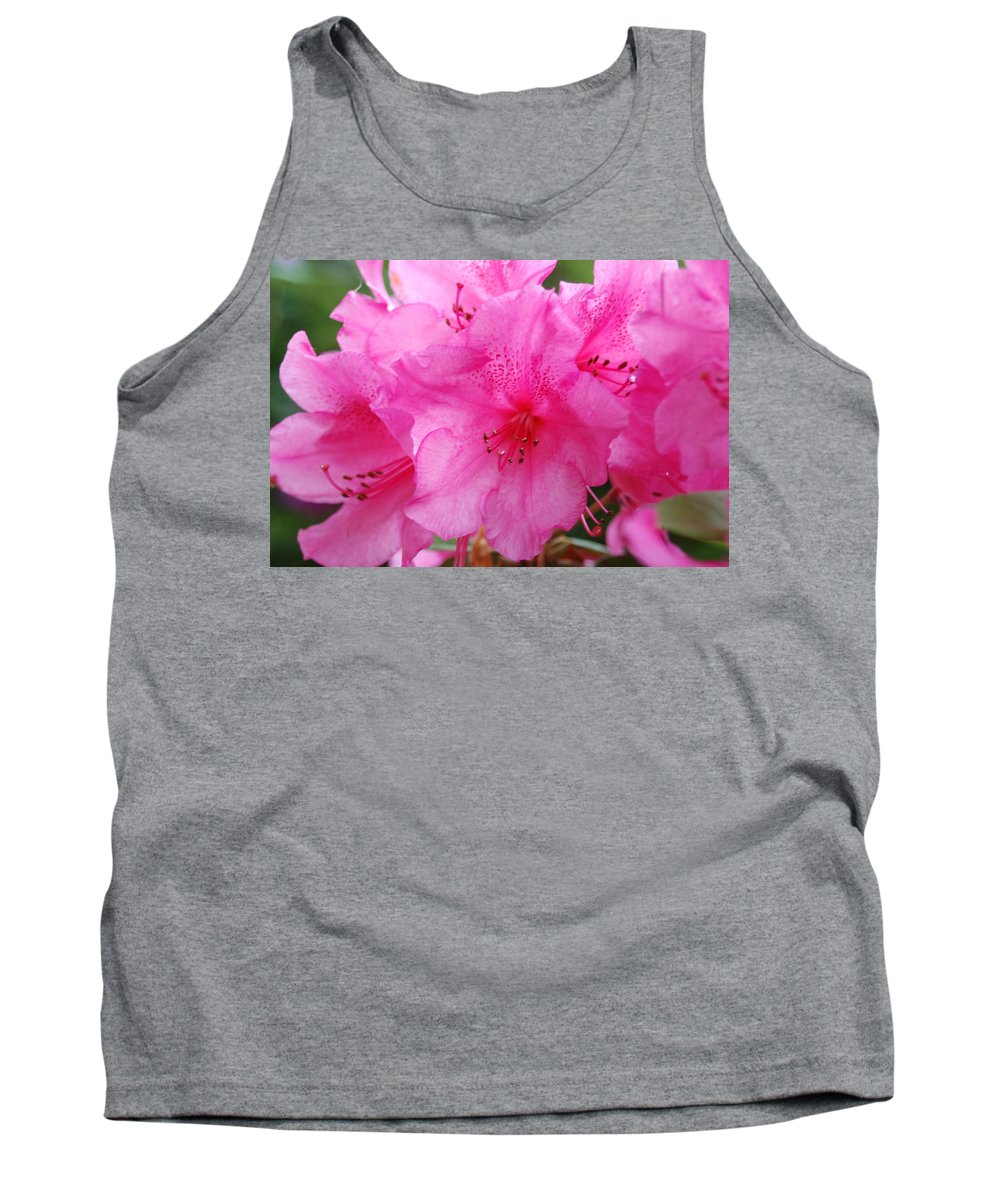 Pink Tank Top featuring the photograph Pink Rhody by Michael Merry