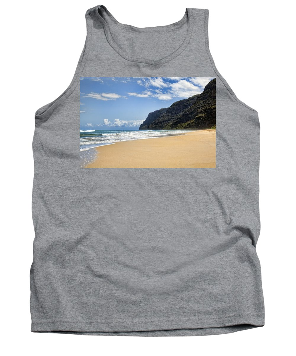 Polihale Tank Top featuring the photograph Polihale Beach by Kelley King