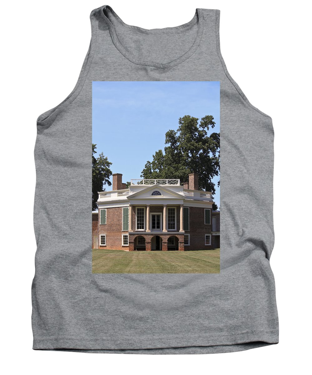 Poplar Forest Tank Top featuring the photograph Poplar Forest From The Lawn by Teresa Mucha