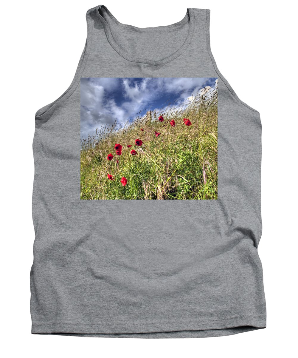Poppies Tank Top featuring the photograph Poppies by Andy Linden