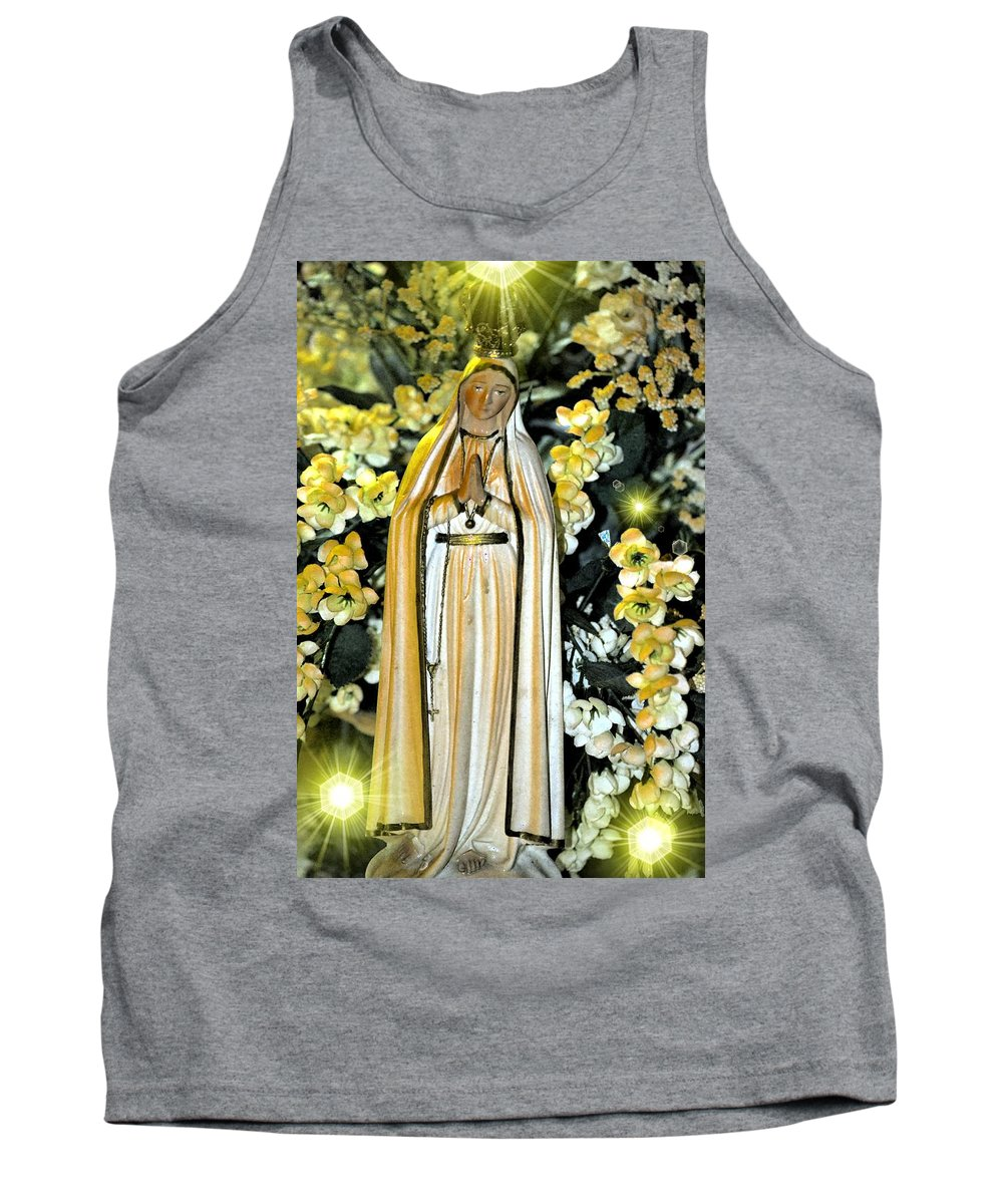 Pray Tank Top featuring the photograph Pray For Us by Maria Urso