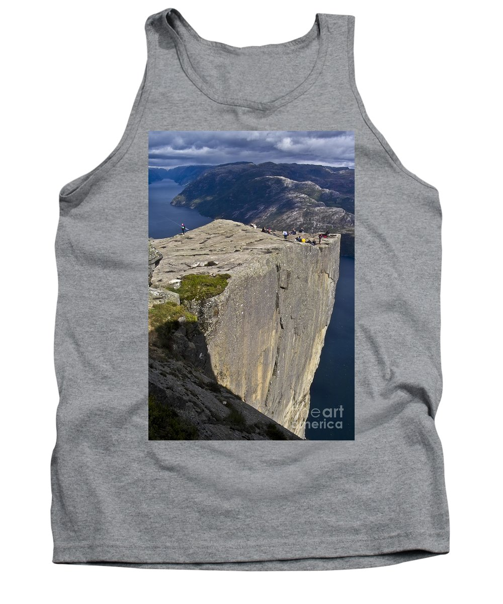 Europe Tank Top featuring the photograph Pulpit Rock by Heiko Koehrer-Wagner
