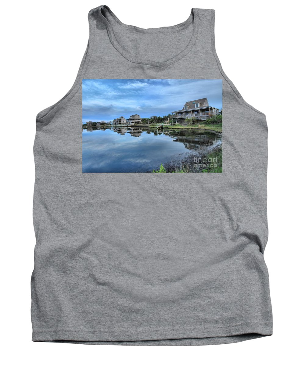 North Carolina Outer Banks Tank Top featuring the photograph Quiet On The Sound by Adam Jewell