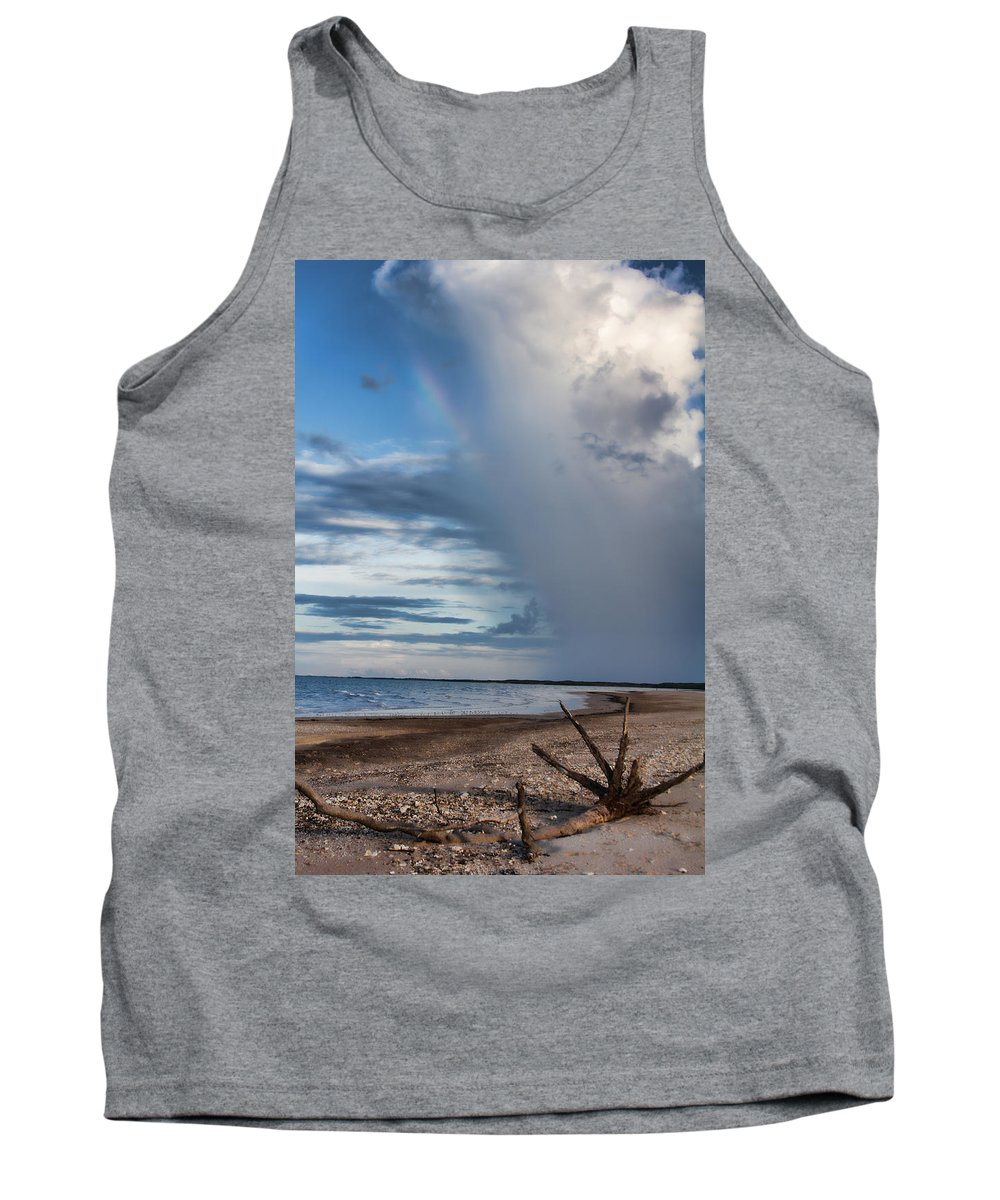 Rain Tank Top featuring the photograph Rain Relief V2 by Douglas Barnard