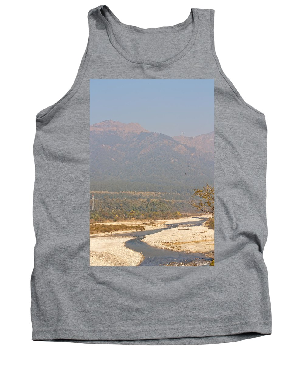 National Park Tank Top featuring the photograph Ramganga River Flowing Through Corbett National Park by Ashish Agarwal