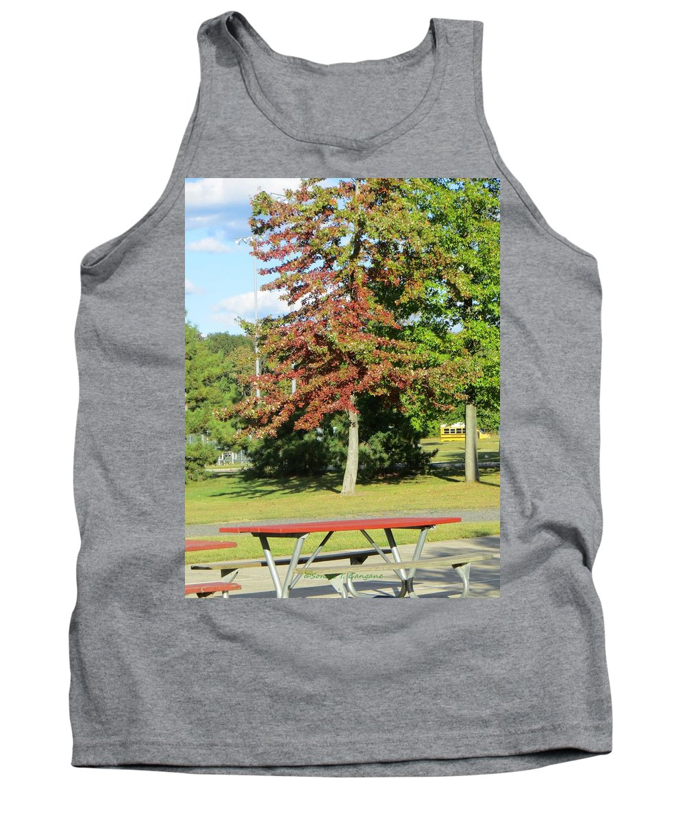 Red Leaves Tank Top featuring the photograph Red In Sunlight by Sonali Gangane