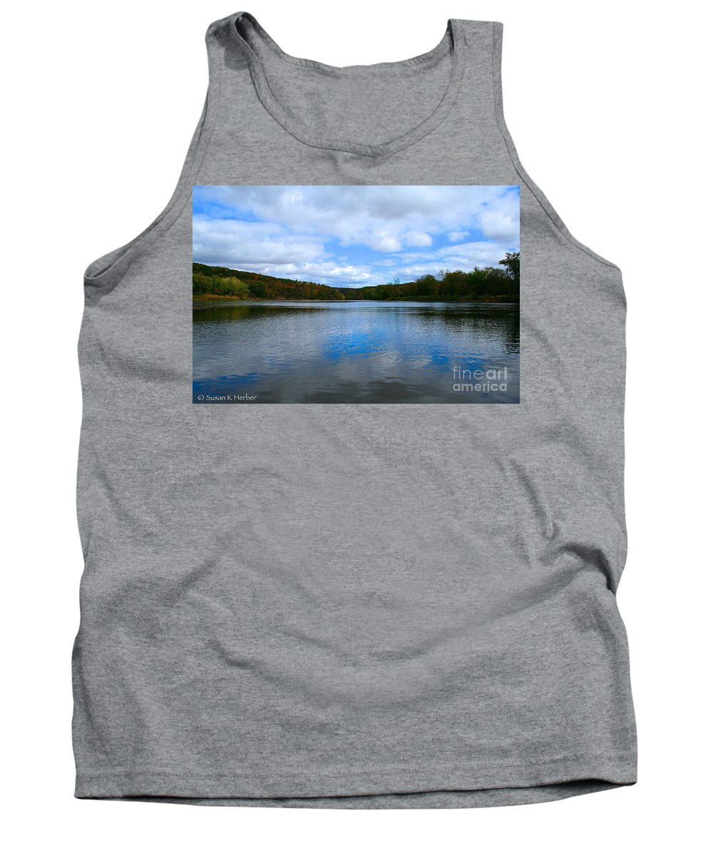 Landscape Tank Top featuring the photograph River Reflections by Susan Herber