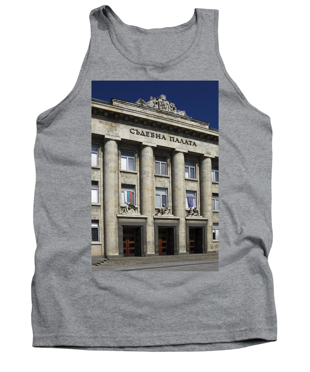 Courthouse Tank Top featuring the photograph Ruse Bulgaria Courthouse by Sally Weigand