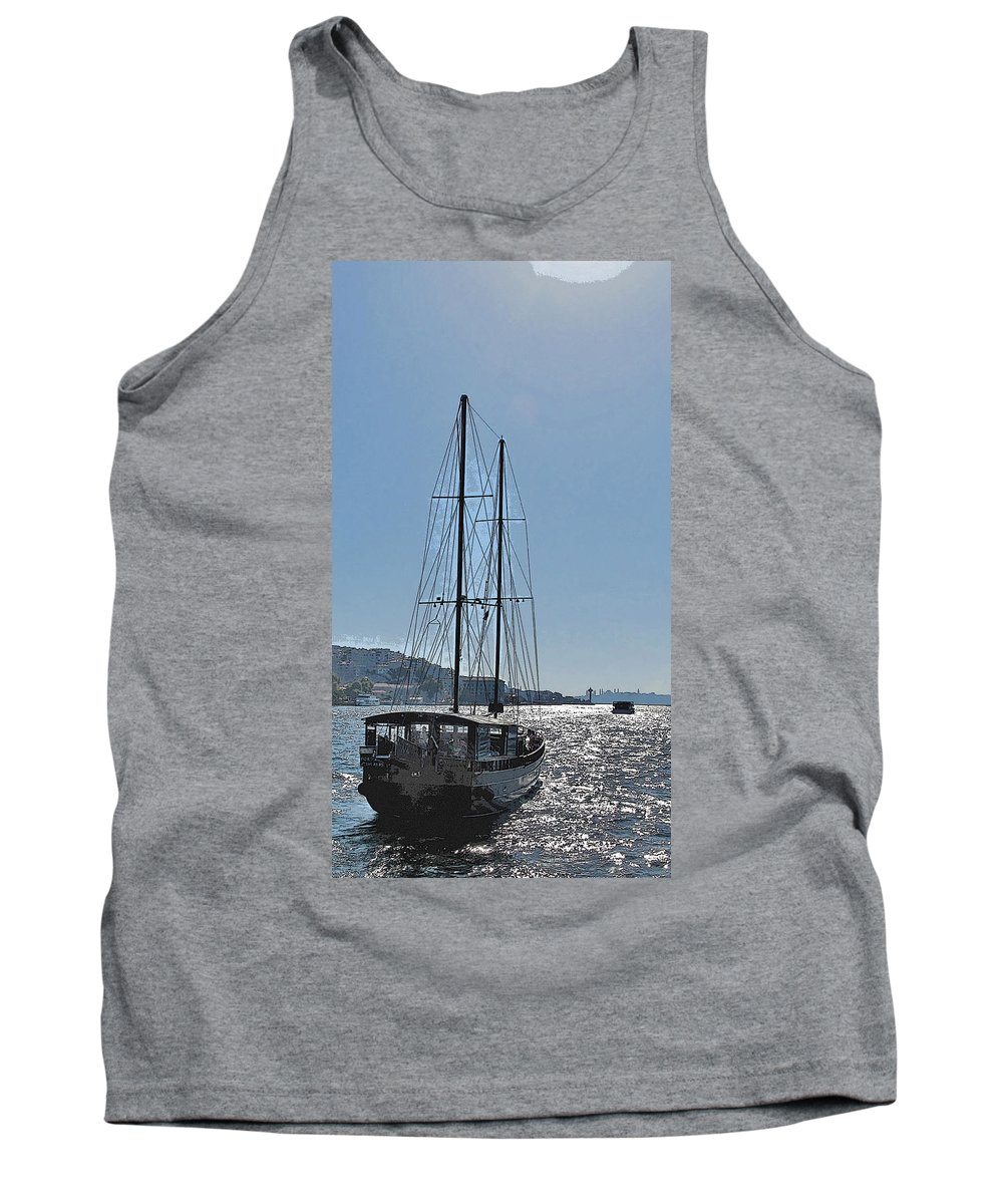 Turkey Tank Top featuring the photograph Saiing To Sultanahamet by Ian MacDonald