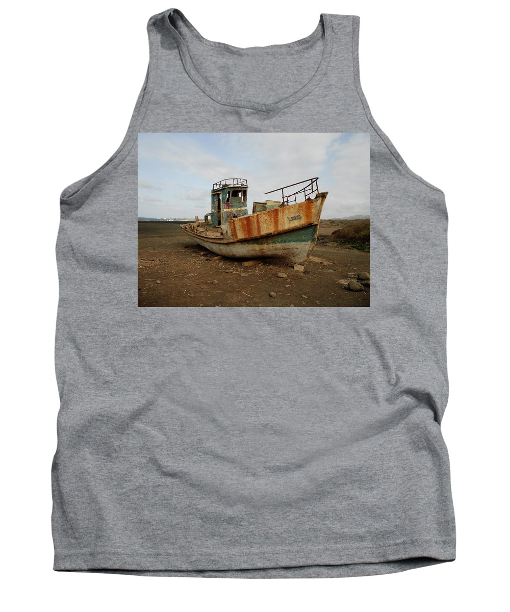 Boat Tank Top featuring the photograph Salty Remains by Julia Raddatz