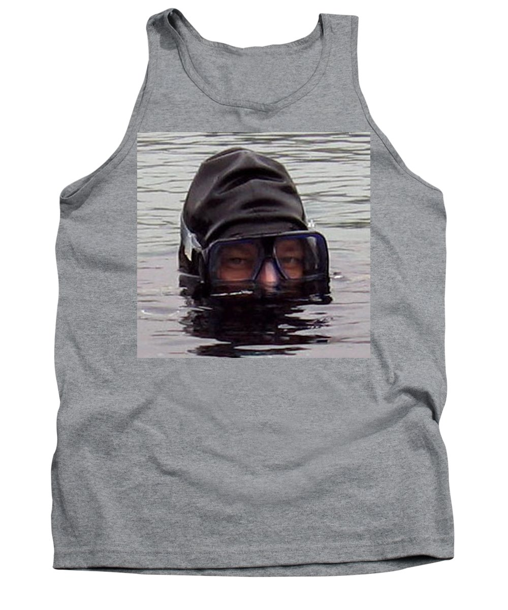 Navy Seal Tank Top featuring the photograph Scuba Diver by Paul Ward