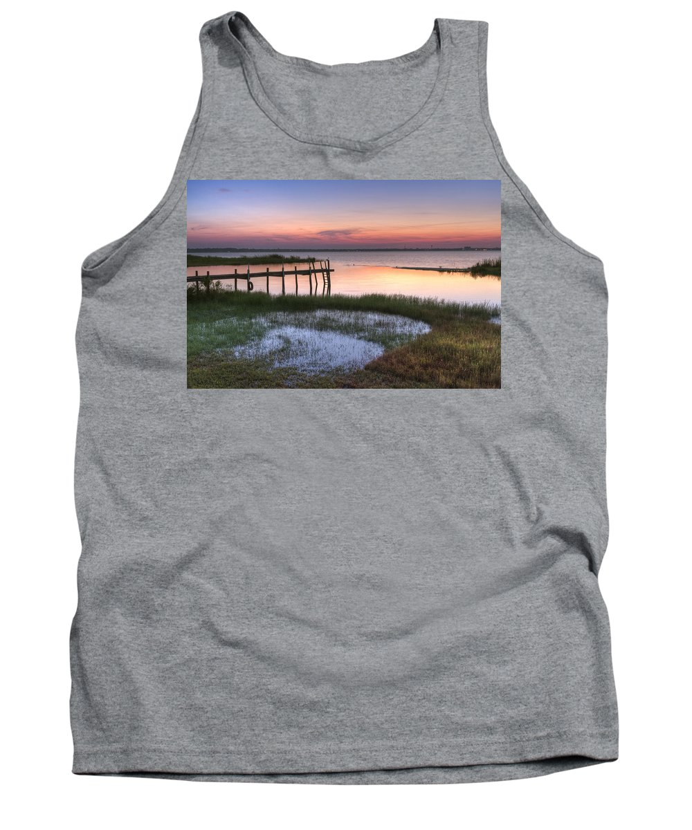 Boats Tank Top featuring the photograph Sebring Sunrise by Debra and Dave Vanderlaan
