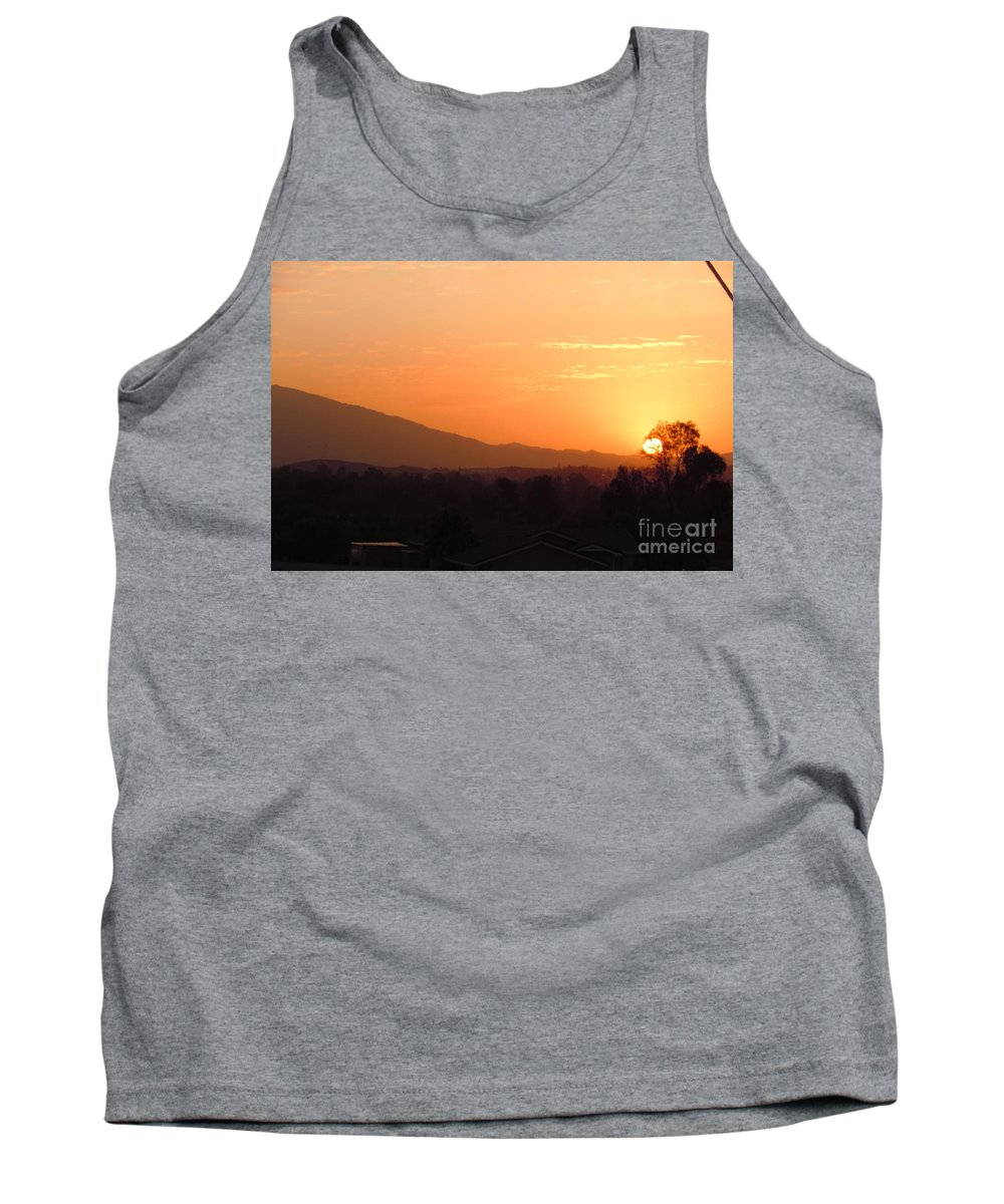 Sun Tank Top featuring the photograph Serenity On Fire by Customikes Fun Photography and Film Aka K Mikael Wallin
