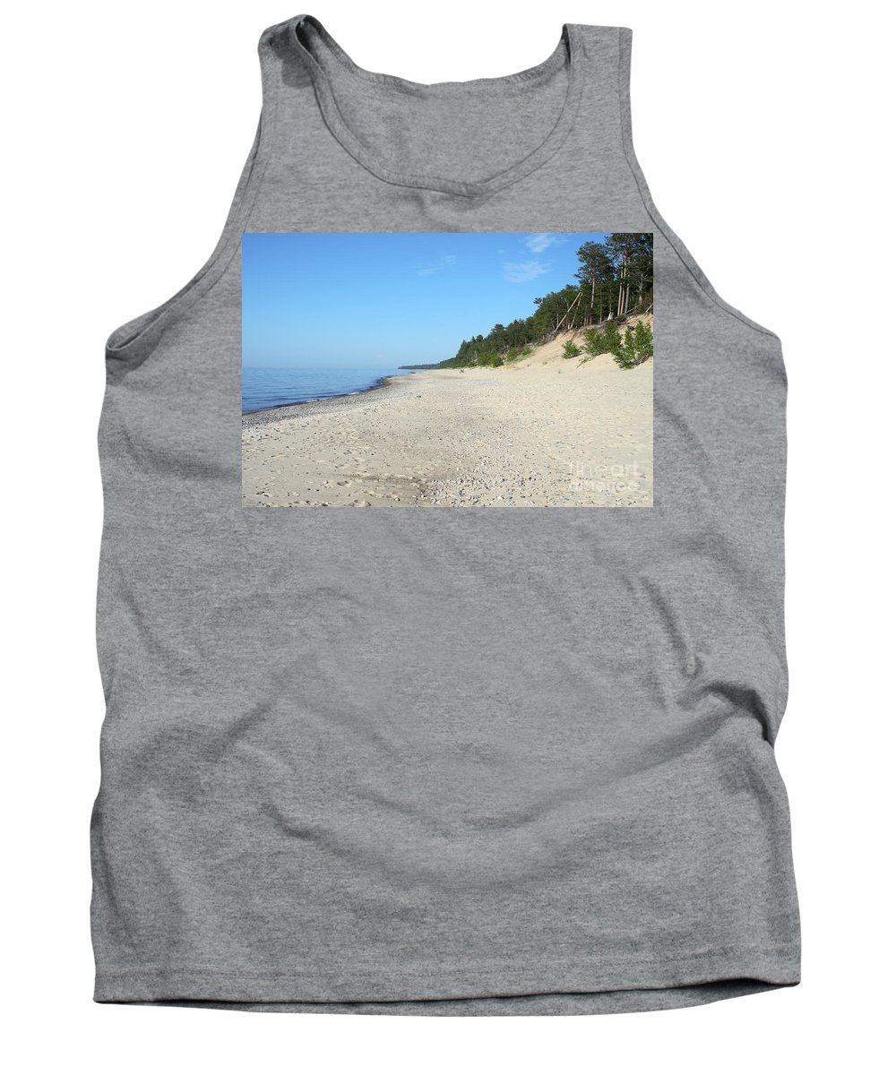 National Park Tank Top featuring the photograph Shore Of Lake Superior by Ted Kinsman