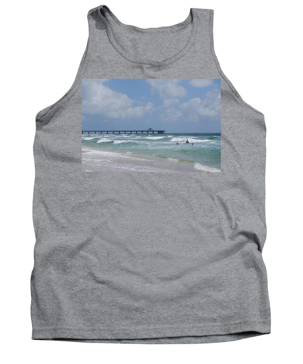 Seascape Tank Top featuring the photograph Simply Sea by Judy Hall-Folde