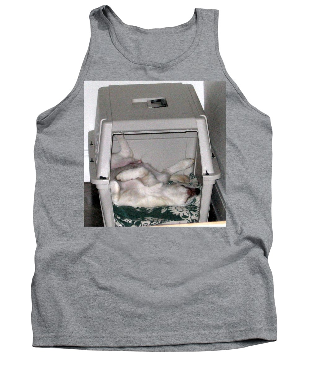 Labrador Tank Top featuring the photograph Sleeping In The Dog House by Amy Hosp